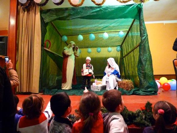 Belén viviente en la Sociedad de Hijos de Palmeira (Riveira, A Coruña).