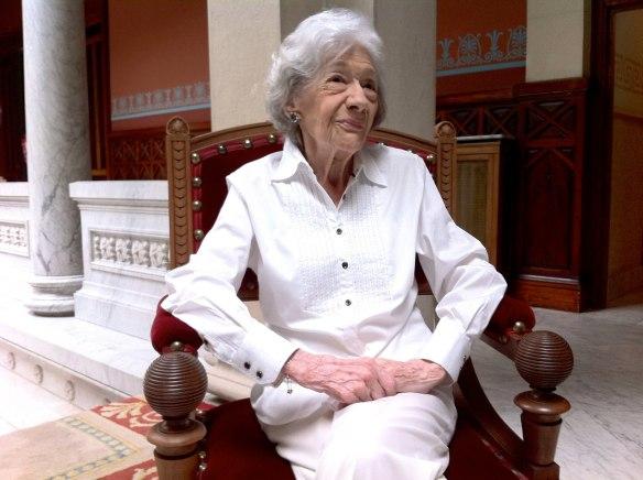 Ana María Matute en la sede de la RAE el 13 de junio de 2013.