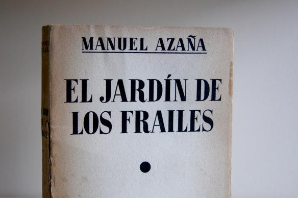 «El jardín de los frailes» (1927), de Manuel Azaña. Detalle de la edición de 1936.