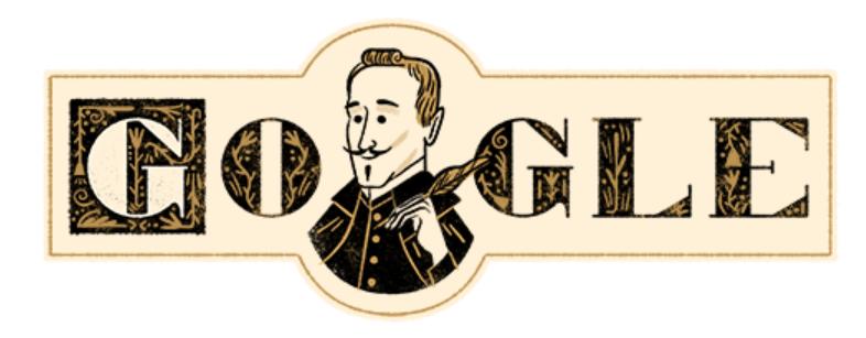 Doodle dedicado a Lope de Vega el 25 de noviembre de 2017.