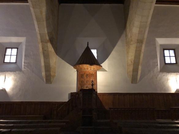 Cátedra de fray Luis de León en Salamanca.