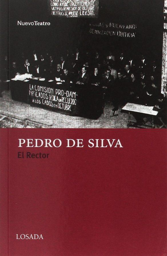 Cubierta de «El rector», de Pedro de Silva.