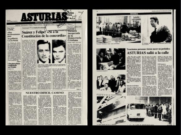 Primer número del periódico, fechado el 5.12.1978