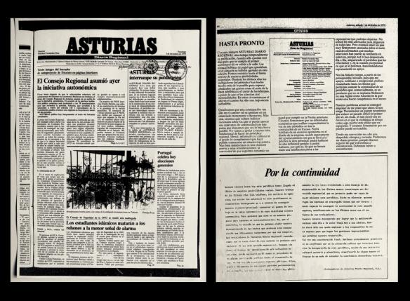 Último número del «Asturias», publicado el 2.12.1979.