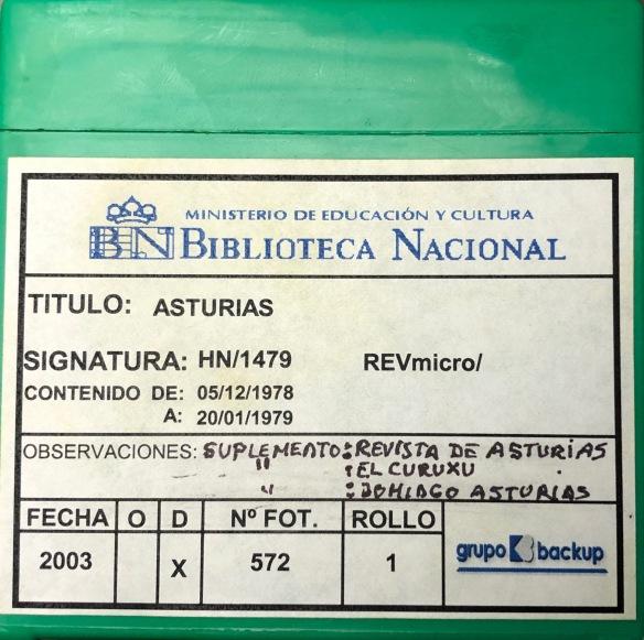 La colección completa del «Asturias» puede consultarse en la hemeroteca de la Biblioteca Nacional de España.