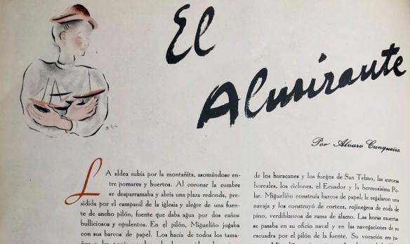 «El Almirante», cuento de Álvaro Cunqueiro publicado en «Vértice» en 1939.